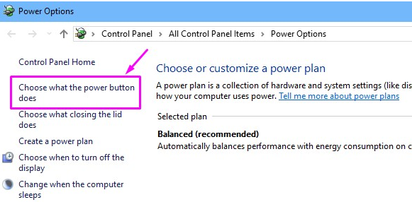 what power button does